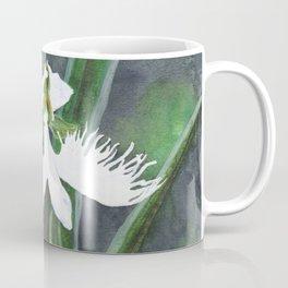 Habenaria radiata white egret orchids flowers Coffee Mug