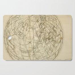 Jérôme Lalande's Astronomie (1771) - Map of Annular Solar Eclipse, 1 April 1764 Cutting Board