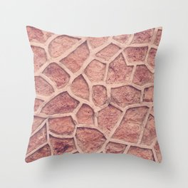 Stone Abstract Throw Pillow