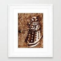 dalek Framed Art Prints featuring Dalek by Redeemed Ink by - Kagan Masters