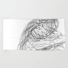 make-out? (B & W) Beach Towel