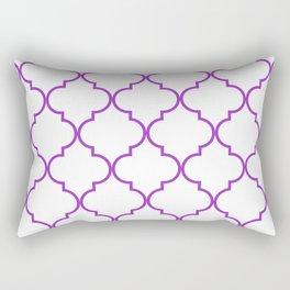 Quatrefoil - purple Rectangular Pillow