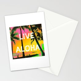LIVE ALOHA Stationery Cards