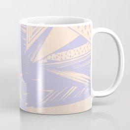Modern lilac ivory violet geometrical shapes patterns Coffee Mug