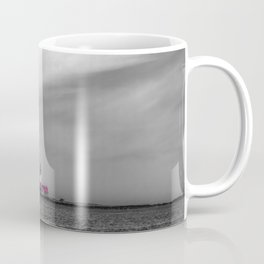 Red lighthouse on a cloudy day Coffee Mug