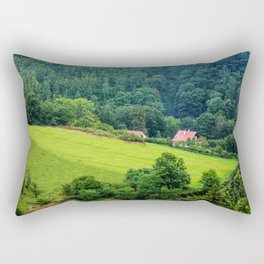 Green forest Rectangular Pillow