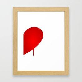 Half Heart Man Framed Art Print