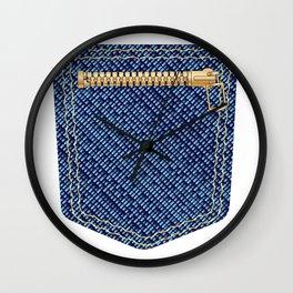 Zipper Pocket Wall Clock