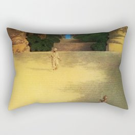 'Prince Abig' or 'The Story of the King's Son' by Maxfield Parrish Rectangular Pillow