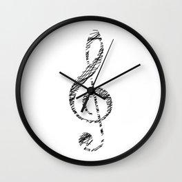 Scribble sol key Wall Clock
