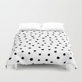 Polka Dot White Background Duvet Cover