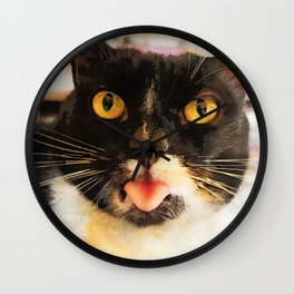 cat Jagoda kiss Wall Clock