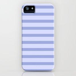 Blue Lilac Stripes iPhone Case