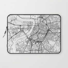 Antwerp Map White Laptop Sleeve