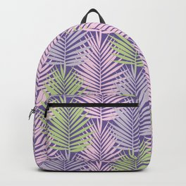 Ultra violet tropical palm leaves seamless pattern. Backpack