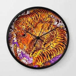 2 tigers (2014) Wall Clock