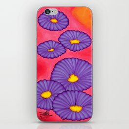 Purple Flowers - Mazuir Ross iPhone Skin