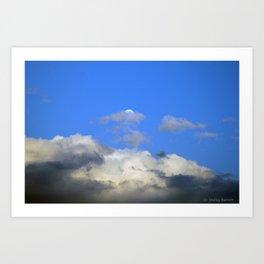 Behind the Cloud Art Print