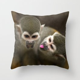 kiss me Throw Pillow