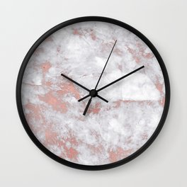 Marble Rose Gold - Lost Wall Clock