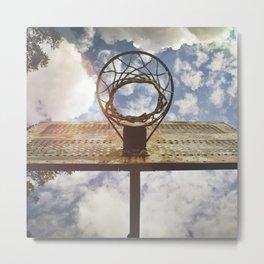 Hoosier Basketball Metal Print