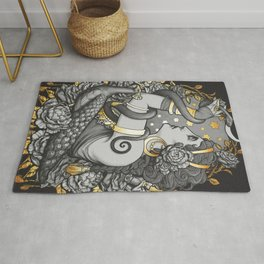 Tribal belly dancer witch Rug