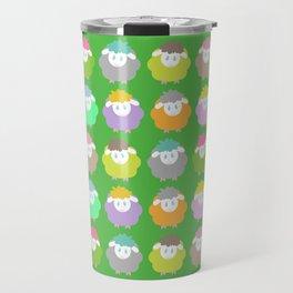 Baby Lambs in the Meadow Travel Mug