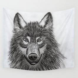 Wolf // #ScannedSeries Wall Tapestry