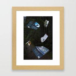 Books can fly Framed Art Print