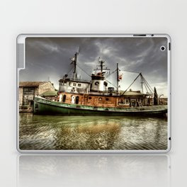 Boat on The River Laptop & iPad Skin
