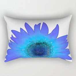 Blue Sunflower Rectangular Pillow