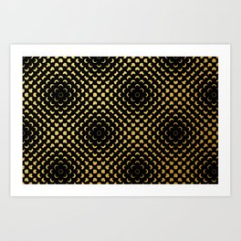 Black and gold pattern Art Print