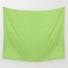 Chartreuse Gingham Wall Tapestry