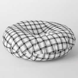 Small Pale Gray Weave Floor Pillow