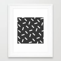 palo alto Framed Art Prints featuring PALO NEGRO by SUPAKID