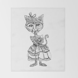 Mimsy the Mummy-Cat Ready for the Monster Mash Throw Blanket
