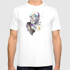 Isaac Hayes White MEDIUM Mens Fitted Tee