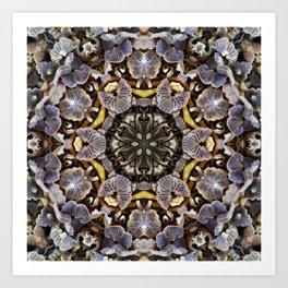 Mushroom Mandala Art Print