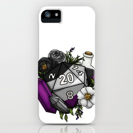 Pride Asexual D20 Tabletop RPG Gaming Dice iPhone Case