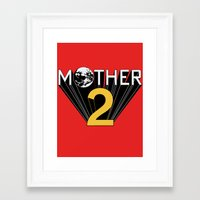 earthbound Framed Art Prints featuring Mother 2 / Earthbound Promo by Studio Momo╰༼ ಠ益ಠ ༽