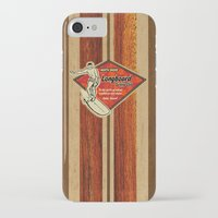 surfboard iPhone & iPod Cases featuring Waimea Hawaiian Surfboard Design by Drive Industries