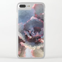 Crystallized Purple Succulent Clear iPhone Case