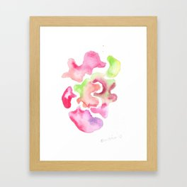170527 Back to Basic Pastel Watercolour 18 | Abstract Shapes Drawing | Abstract Shapes Art Framed Art Print