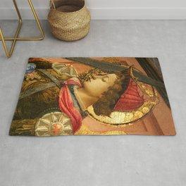 """Fra Filippo Lippi """"Archangel Michael"""" detail Rug"""
