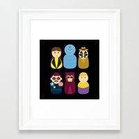 watchmen Framed Art Prints featuring Watchmen by PinkRadish