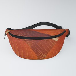 Leaves in Terracotta Color #decor #society6 #buyart Fanny Pack