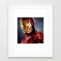 ironman Framed Art Prints featuring IronMan by San Fernandez