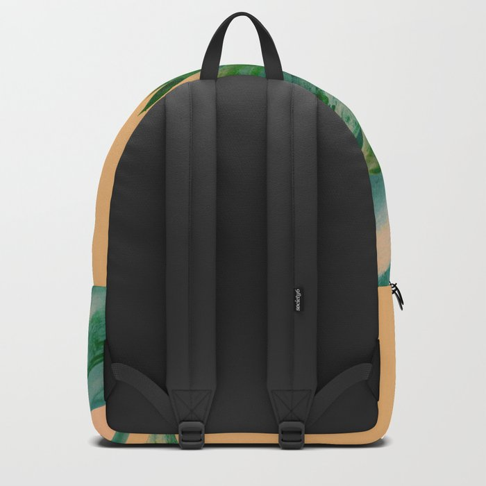Pineapple in orange Backpack
