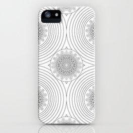 filigree black mandala iPhone Case
