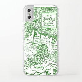 Map of Bohemia (green) Clear iPhone Case